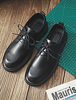 cheap -Men's Oxfords Daily Walking Shoes Cowhide Wear Proof Black Spring Fall