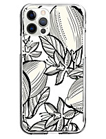 cheap -sketch flower fashion case for apple iphone 12 iphone 11 iphone 12 pro max unique design protective case shockproof back cover tpu instagram style case