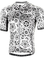 cheap -Men's Short Sleeve Cycling Jersey Grey Gear Bike Top Mountain Bike MTB Road Bike Cycling Breathable Sports Clothing Apparel / Stretchy / Athletic