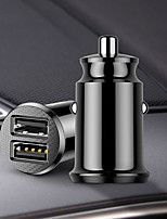 cheap -12V Dual USB Car Charger 3.1A Fast Charging For Iphone Samsung Mini USB Auto Charging Car-Charger Accessories Black White