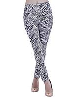 cheap -Women's Stylish Streetwear Comfort Casual Weekend Leggings Pants Zebra Ankle-Length Print Black