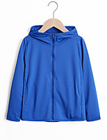 cheap -Boys' Hiking Skin Jacket Skin Coat Hiking Windbreaker Jacket Top Outdoor Lightweight Windproof Breathable Quick Dry Autumn / Fall Spring Child white Children pink Children's Royal Blue Fishing