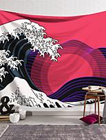 cheap -Kanagawa Wave Ukiyo-E Wall Tapestry Art Decor Blanket Curtain Hanging Home Bedroom Living Room Decoration Japanese Painting Style Sea Ocean Wave Sun Retro Abstract
