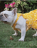 cheap -Dog Cat Dress Fruit Sweet Style Adorable Casual / Daily Dog Clothes Puppy Clothes Dog Outfits Breathable Yellow Pink Costume for Girl and Boy Dog Cotton XS S M L XL XXL