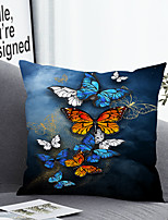 cheap -1 pcs Polyester Pillow Cover & Insert, Animal Simple Classic Square Zipper Polyester Traditional Classic