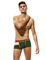 cheap -Men's 1 Piece Basic Boxers Underwear / Briefs Underwear - Normal Mid Waist Black Red Army Green M L XL