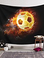 cheap -Wall Tapestry Art Decor Blanket Curtain Hanging Home Bedroom Living Room Decoration Football Flame Polyester