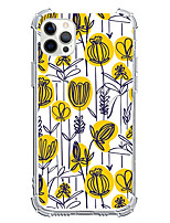 cheap -yellow flowers novelty case for apple iphone 12 iphone 11 iphone 12 pro max unique design protective case shockproof back cover tpu
