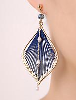 cheap -Women's Hoop Earrings Geometrical Happy Stylish Simple Earrings Jewelry Blue / Gold For Daily Prom