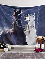 cheap -wall tapestry art decor blanket curtain hanging home bedroom living room decoration black and white horse polyester
