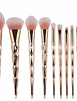 cheap -10 pcs Professional Makeup Brush Set,for Blending Concealers Highlighter Eye Shadows (gold)