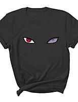 cheap -Inspired by Naruto Uchiha Sasuke Cosplay Costume T-shirt Microfiber Graphic Prints Printing T-shirt For Men's / Women's