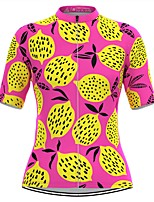 cheap -Women's Short Sleeve Cycling Jersey Pink Fruit Bike Top Mountain Bike MTB Road Bike Cycling Breathable Quick Dry Sports Clothing Apparel / Stretchy / Athleisure