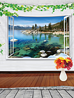 cheap -Window Landscape Wall Tapestry Art Decor Blanket Curtain Hanging Home Bedroom Living Room Decoration Mountain Lake Forrest