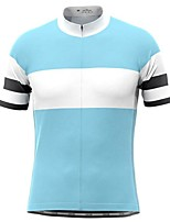 cheap -21Grams Men's Short Sleeve Cycling Jersey Black Red Sky Blue Bike Top Mountain Bike MTB Road Bike Cycling Breathable Sports Clothing Apparel / Stretchy / Athletic