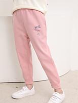 cheap -Kids Girls' Pants Print Basic Blushing Pink