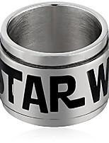 cheap -Men's Logo of Star Wars Stainless Steel Spinner Ring