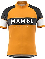 cheap -21Grams Men's Short Sleeve Cycling Jersey Orange Bike Top Mountain Bike MTB Road Bike Cycling Breathable Sports Clothing Apparel / Stretchy / Athletic