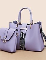 cheap -women 2pcs pu leather fashion casual business multi-carry shoulder bag handbag crossbody bag