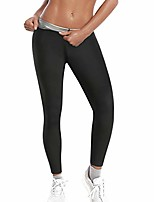 cheap -Women Sauna Sweat Pants Training Leggings Gym Fitness Exercise Capri Pants Workout Hot Thermo Body Shaper