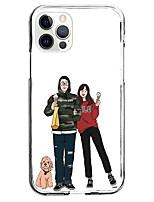 cheap -Graphic Valentine Phone Case For Apple iPhone 12 iPhone 11 iPhone 12 Pro Max Unique Design Protective Case Shockproof Clear Back Cover Instagram Style