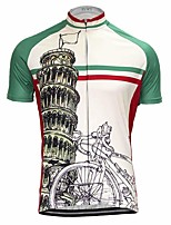 cheap -Men's Short Sleeve Cycling Jersey White Bike Top Mountain Bike MTB Road Bike Cycling Breathable Sports Clothing Apparel / Stretchy / Athletic