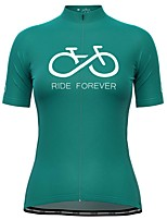 cheap -21Grams Women's Short Sleeve Cycling Jersey Green Bike Top Mountain Bike MTB Road Bike Cycling Breathable Quick Dry Sports Clothing Apparel / Stretchy / Athleisure