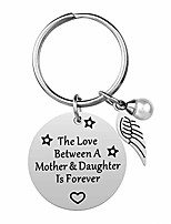 cheap -mom gifts from daughter - the love between a mother & daughter is forever keychain, stainless steel, best mother's day gift, mother daughter inspirational jewelry for birthday (mother-daughter)