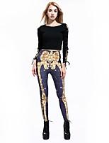 cheap -Women's High-Waisted Comfort Daily Gym Skinny Leggings Pants Skull Full Length Print Purple