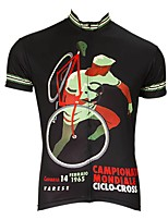 cheap -Men's Short Sleeve Cycling Jersey Black Bike Top Mountain Bike MTB Road Bike Cycling Breathable Sports Clothing Apparel / Stretchy / Athletic