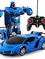 cheap -Remote Control Car Transform Robot RC Car Remote Control Stunt Car 2 in 1 RC Car Driving Sports Cars Drive Deformation Robot Model Remote Control Car RC Fighting Toy Gift