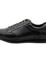 cheap -Men's Oxfords Sporty Casual Daily Walking Shoes PU Breathable Non-slipping Wear Proof Black Spring Fall