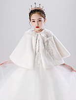 cheap -Sleeveless Shawls / Cute Imitation Cashmere Party / Evening / Birthday Shawl & Wrap / Kids' Wraps With Bowknot / Solid