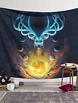 cheap -Wall Tapestry Art Decor Blanket Curtain Hanging Home Bedroom Living Room Decoration Lucky Deer On The Fireball