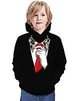 cheap -Kids Boys' Hoodie & Sweatshirt Graphic 3D Print Long Sleeve Active Black