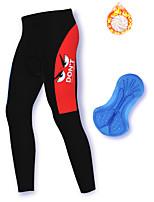 cheap -21Grams Men's Cycling Pants Winter Fleece Spandex Bike Pants / Trousers Fleece Lining Warm Sports Black Mountain Bike MTB Road Bike Cycling Clothing Apparel Bike Wear / Stretchy / Athleisure