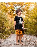cheap -Kids Boys' T shirt Tee Geometric Print Short Sleeve Active Basic White Black