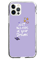 cheap -phrase fashion case for apple iphone 12 iphone 11 iphone 12 pro max instagram style case unique design just believe in your dreams protective case shockproof back cover tpu