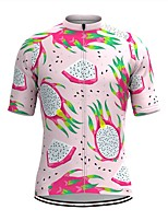 cheap -Men's Short Sleeve Cycling Jersey Pink Fruit Bike Top Mountain Bike MTB Road Bike Cycling Breathable Sports Clothing Apparel / Stretchy / Athletic