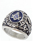 cheap -free mason college style ring silver color masonic ring (13)