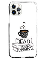 cheap -coffee book fashion case for apple iphone 12 iphone 11 iphone 12 pro max unique design protective case shockproof back cover tpu