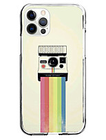cheap -instagram cartoon camera fashion case for apple iphone 12 iphone 11 iphone 12 pro max unique design protective case shockproof back cover tpu