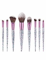 cheap -Makeup Brushes Sequin Makeup Brush Set Tools Make-up Toiletry Kit Nylon Cosmetic Brush Eye Brush 10pcs (Color : 10-Piece)