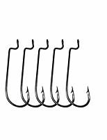 cheap -50pcs Offset Worm Hooks Fishing Hooks Jig Hooks High Carbon Steel Senko Bait Fish Hooks Size: 1# 1/0 2/0 3/0 4/0 5/0 (1/0-50pcs)