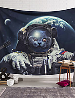 cheap -Wall Tapestry Art Decor Blanket Curtain Hanging Home Bedroom Living Room Decoration Polyester Spacesuit Cat