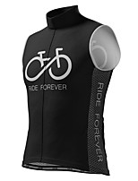 cheap -21Grams Men's Sleeveless Cycling Jersey White Black Bike Top Mountain Bike MTB Road Bike Cycling Breathable Sports Clothing Apparel / Stretchy / Athletic