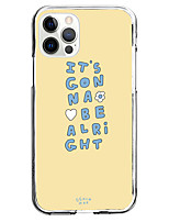 cheap -it's gonna be alright phrase fashion case for apple iphone 12 iphone 11 iphone 12 pro max unique design protective case shockproof back cover tpu celebrity hot style