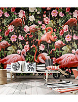 cheap -Flamingo Wallpaper Self-Adhesive Removable Peel and Stick Wallpaper Decorative Wall Covering for Wall Surface Cover Easy to Apply