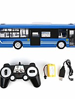 cheap -Remote Control Bus, 2.4GHz RC Car Model Model Car Toy with Sound Light for Kids (Blue)