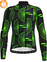 cheap -21Grams Men's Long Sleeve Cycling Jersey Winter Fleece Polyester Yellow Blue Orange Bike Jersey Top Mountain Bike MTB Road Bike Cycling Fleece Lining Warm Quick Dry Sports Clothing Apparel / Stretchy